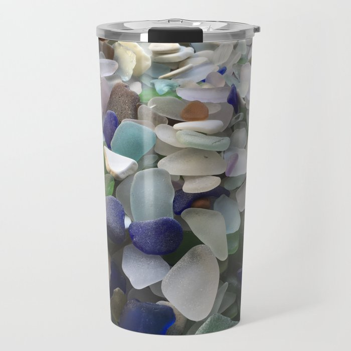 Sea Glass Assortment 5 Travel Mug