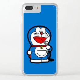 Doraemon Karaoke Clear iPhone Case