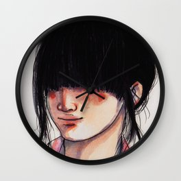 Girl with the Fringe Wall Clock