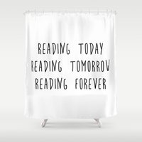 reading Shower Curtains featuring Reading by IA Apparel