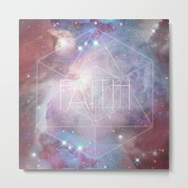 Faith - icosahedron Metal Print
