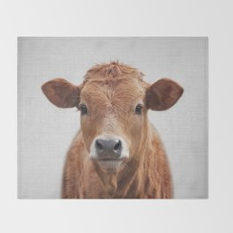 Cow 2 - Colorful Throw Blanket
