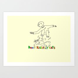 Don't kickflip Cats Art Print