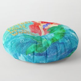 Part of Your World Floor Pillow
