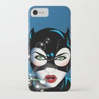 catwoman iPhone & iPod Cases featuring Catwoman by mark ashkenazi