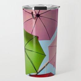 Colorful umbrellas. Travel Mug