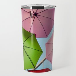 Colorful umbrellas. Travel Mug