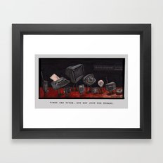 Unemployment Line. Framed Art Print