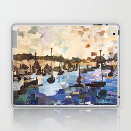 Boats on the Bay Paper Collage Laptop & iPad Skin