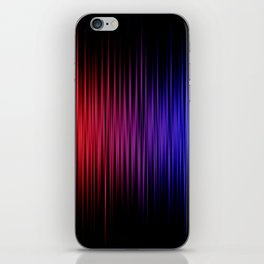 Colorful lines on black background iPhone Skin