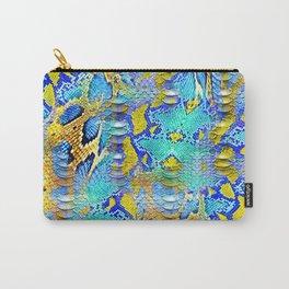 snake colored geometrik pachwork desen Carry-All Pouch