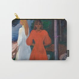 Edvard Munch - Red and White Carry-All Pouch