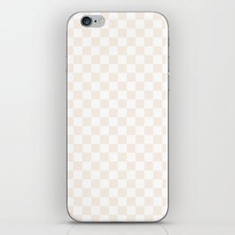 Small Checkered - White and Linen iPhone Skin