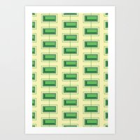 Stacked Rectangles Art Print