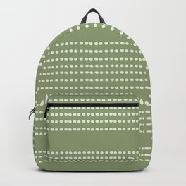 Spotted, Mudcloth, Sage Green, Wall Art Boho Backpack