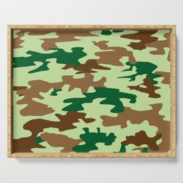 Camouflage Print Pattern - Greens & Browns Serving Tray