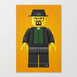 Lego Walter White - Vector Canvas Print