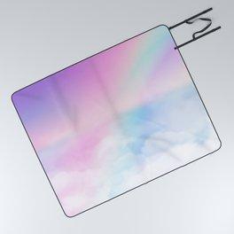 Pretty Rainbow Picnic Blanket