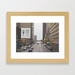 Detroit Nice Framed Art Print
