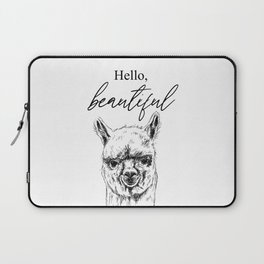 Hello, Beautiful Alpaca Sketch Laptop Sleeve