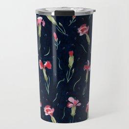 carnations Travel Mug