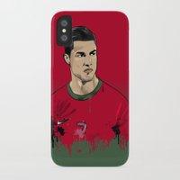 ronaldo iPhone & iPod Cases featuring Cristiano Ronaldo by J Maldonado