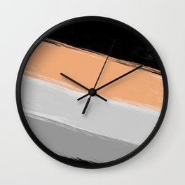 River sand , abstract , striped Wall Clock