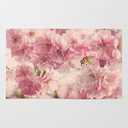 Flower of Life Cherry Blossom Rug