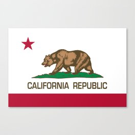 California flag, High Quality Authentic Canvas Print