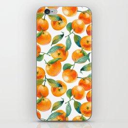 Mandarins With Leaves iPhone Skin