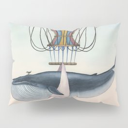 Whale And Bird Pillow Sham