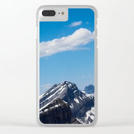 Dreamy Mountain Tops Clear iPhone Case