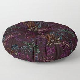 Psychedelic Dino Floor Pillow