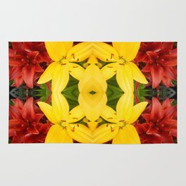 """""""A Gathering of Lilies"""" Remix - 3 (3-1) [D4468~49] Rug"""