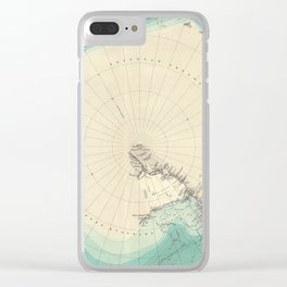 Vintage Map of Antarctica (1922) Clear iPhone Case