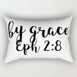 Ephesians 2:8 - By Grace Rectangular Pillow