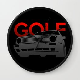 Volkswagen Golf Wall Clock