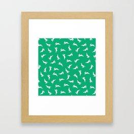 Happy Playing Rabbit Bunnies Framed Art Print
