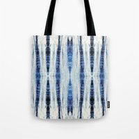nori Tote Bags featuring Nori Blue by Nina May Designs