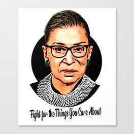 The Unstoppable Ruth Bader Ginsburg Canvas Print