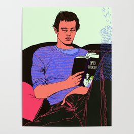 Reading Henry Miller Poster