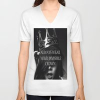 crown V-neck T-shirts featuring Crown by I Love Decor
