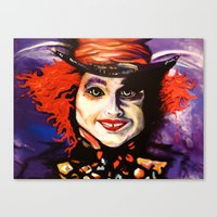 mad hatter Canvas Prints featuring Mad Hatter by Vicki Lynn Rae