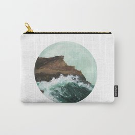 Crashing Waves on a cliff Carry-All Pouch
