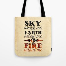 Sky Earth Fire Tote Bag