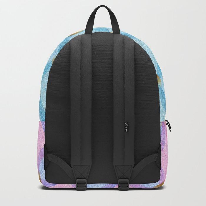 Colored Leaf Skeleton Pattern Backpack