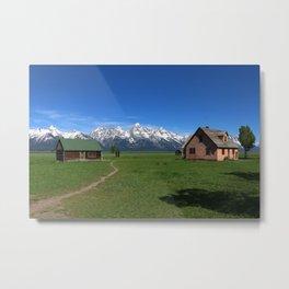 Moulton Homestead and Grand Teton Range Metal Print