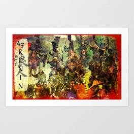 The Ride of the 47 Ronin Art Print