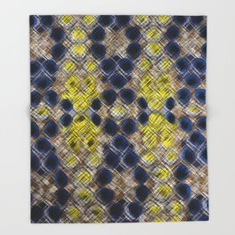 Blue Gold Heritage Throw Blanket