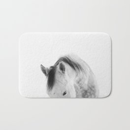 Modern Photography White Horse Bath Mat